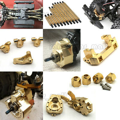 Heavy Brass Servo Mount Wheel Knuckle Weight Hubs Links for 1/10 RC Traxxas TRX4