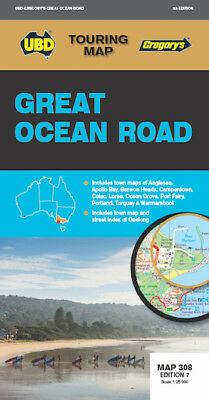 UBD Gregory's Great Ocean Road Map *FREE SHIPPING - NEW*