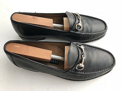 Cole Haan Mens Black Leather Horsebit Casual Slip On Loafers Size 9.5 M
