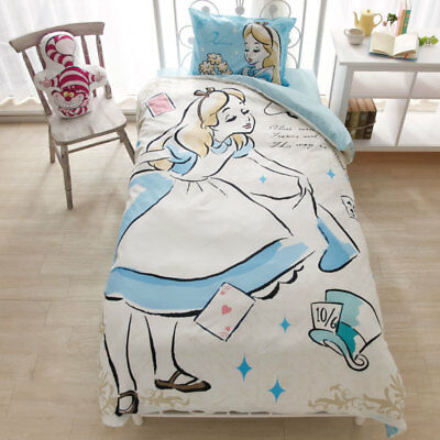 Disney Alice single size bed Cover 3-piece Set Western style Blue Free shipping