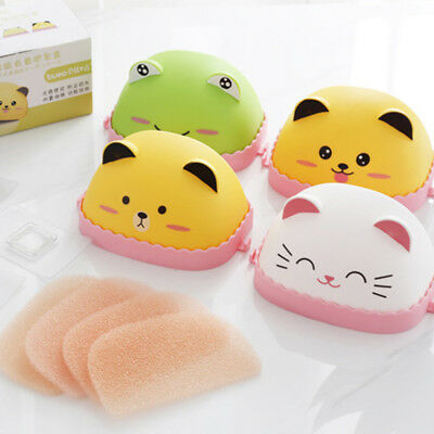 Fashion Dust-proof Cover Sponge Soap Box No Trace Wall Hanging Soap Dishes