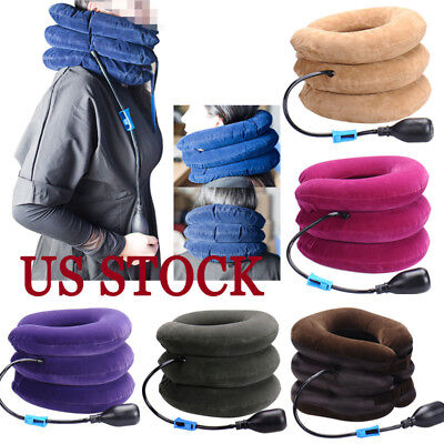 Travel U Shape Inflatable Daydreamer Neck Pillow with Airplane Packsack NEW US