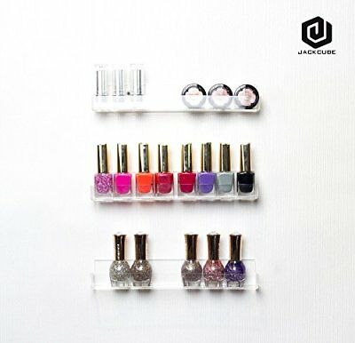 Jack Cube Acrylic Nail Polish Wall Mount Display Rack Holder Stand Minifigure 3