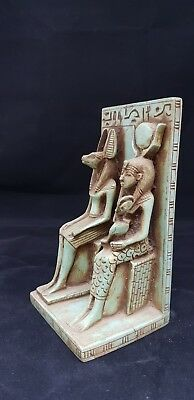 Rare ANCIENT EGYPT Antique Beautiful ISIS Nursing HORUS With God ANUBIS 300 BC