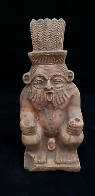 Rare Ancient Egyptian Antique Statue of God BES Egypt BC Stone 664 BC