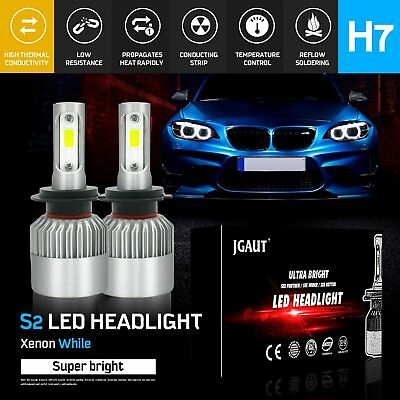 H7 200W 20000LM LED Bulb Headlight Conversion Kit Light COB Lamps 6500K 12-24v