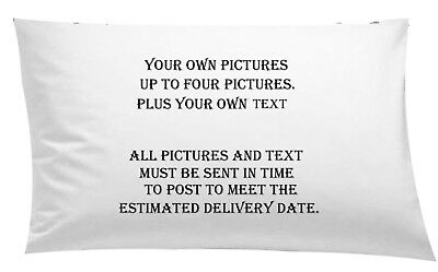 #Personalised Pillowcase up to 4 Images Photo cushion Cover Xmas Bedding