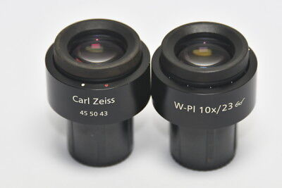Carl Zeiss W-pI 10x/23 MICROSCOPE A Couple of Eyepiece, Free shipping