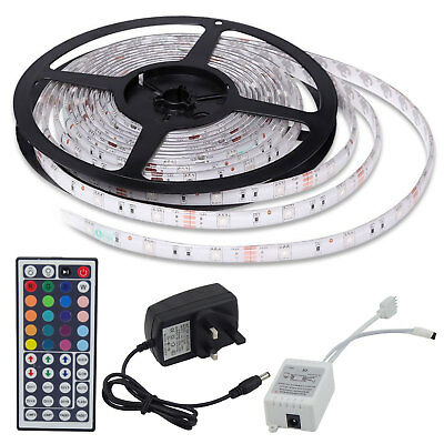 RGB 5Meter LED Strip 5050 USB Multi-Color Light TV Backlight Changing Remote Kit