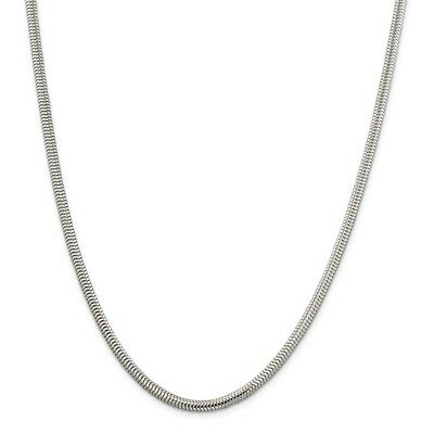 925 Sterling Silver 1.5mm Round Snake Chain Necklace 18 Inch Pendant Charm Fine