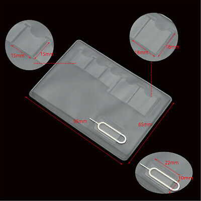 10PC Wallet SIM Card Holder Storage Case For 5 Micro Sizes And Iphone Eject Pin