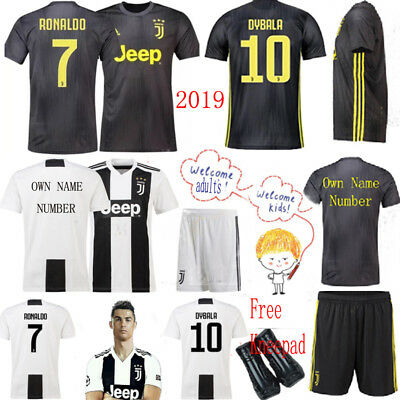 18 19 Adult Kids Football Soccer Team Jersey Black Gray Home Boys Kits Suit Sock