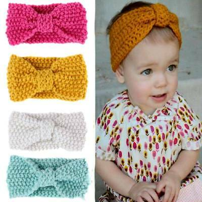 Kids Baby Girls Headwrap Accessories Crochet Knitted Turban Headband Hair Band