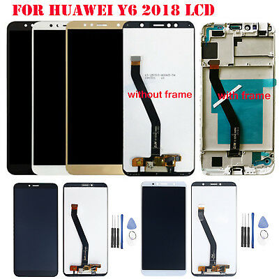 For Huawei Y6 2018 LCD Display Touch Screen Digitizer Assembly Frame Replacement