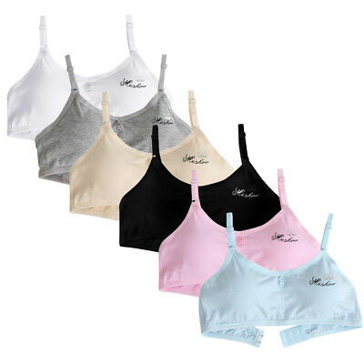 Young Girls Student Training Bra Wire Free Adjustable Cotton Letters Underwear