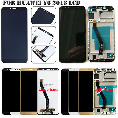 For Huawei Y6 2018 Touch Screen Frame + LCD Display Glass Assembly Replacment