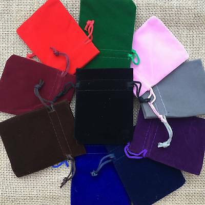 5 20 50 Velvet Bags Jewelry Wedding Party Favour Gift Drawstring Pouches 6 Size