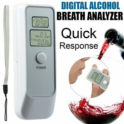 Digital Police LCD Breathalyzer Breath Test Alcohol Tester Analyzer Detector IR