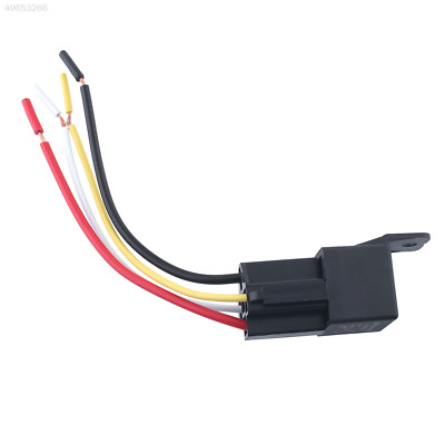4Pcs Auto Car Waterproof 12V 50A 4Pin Amp Style Relay W/Wires Harness Socke