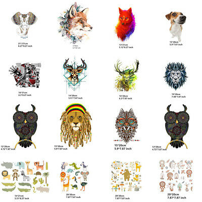 Fashion Animal Clothes Patches Heat Transfer Sticker Print Iron On Appliques DIY