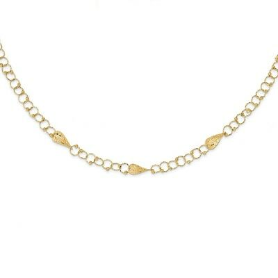 14k Yellow Gold 16.5in 1.5in Extension Chain Necklace Pendant Charm Fancy Bead