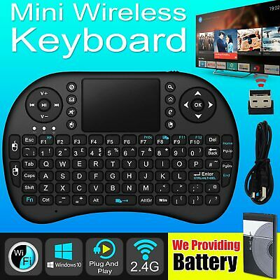Mini Wireless Keyboard and Touchpad Mouse For Smart TV Android Box PC Laptop IR