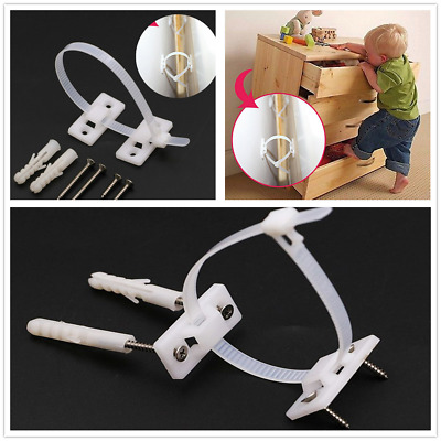 AU Lot Nylon Anti Tip Furniture TV Straps for Baby-Proofing Child Safety Useful
