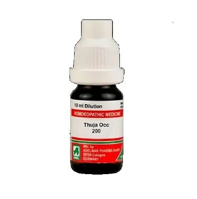 Adel Homeopathic Thuja Occ Dilution 200 CH (10ml) + Free Shipping