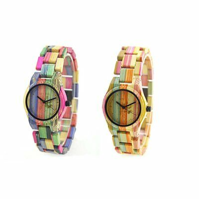 Colorful Bamboo Case Watch Luxury Brand Wooden Women Quartz Watch Wood da