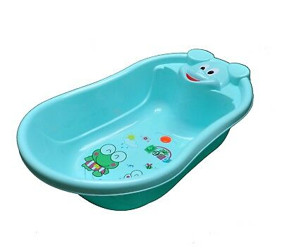 Baby Bath Tub, Infant Washing Newborn Toddler Bathtub Cute Animal Shape BLUE