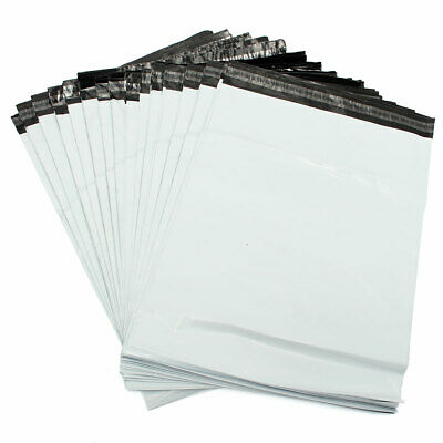 Strong WHITE Plastic Mailing Postal Poly Pack Postage Bags UK ALL SIZES