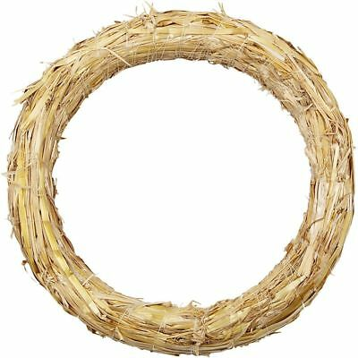 Plain Straw Wreath - Base Christmas Craft Wreaths - Decorate Floral Home Decor