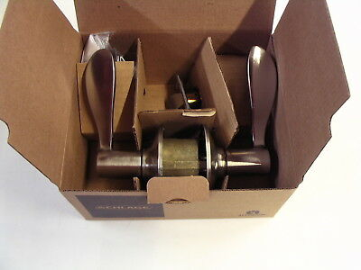 SCHLAGE F40ACC619 Accent Privacy Lever Satin Nickel Door Knob -  New
