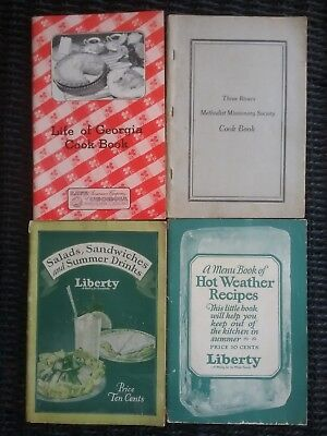 vintage recipe advertising booklets lot of 4 cook books 1920 s