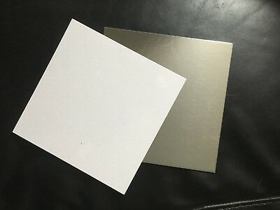 12 INCH SQUARE REVERSIBLE CAKE BOARDS 1.5mm THICK SILVER & WHITE