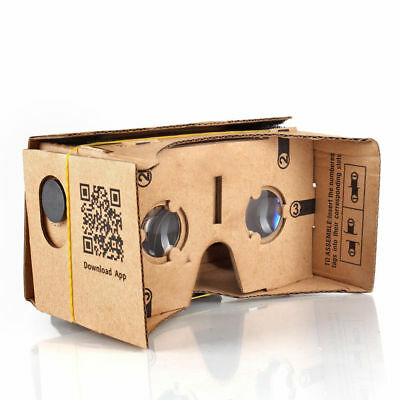 """Google Cardboard Virtual Reality Glasses, VR 3D Headset For Up To 5"""" Smartphone"""