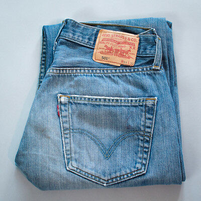 Vintage Levi 501 Jeans Red Tab Blue Straight Button Fly (Patch W31L32) W 30 L 31