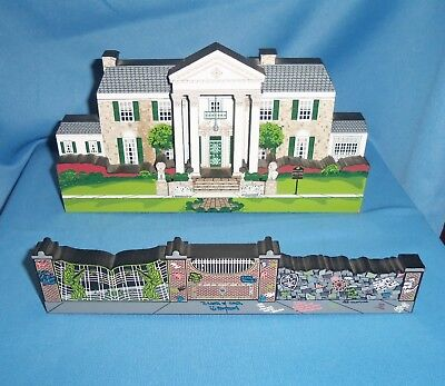 FM002 Elvis Presley Graceland WALL and GATE Shelia/'s Collectibes House