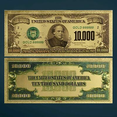 $100,000 Federal Reserve Note Wilson Uncirculated Gold Foil
