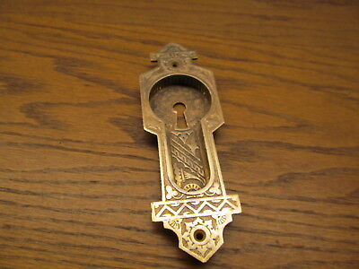 Old Brass ?? Bronze ? Pocket Door Escutcheon...backplate...door Plate