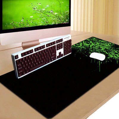 900x300mm Extended Gaming Large Mouse Pad XXL Big Size Desk Mat Black&Green KK