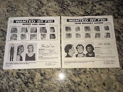 *Rare* (2) High Level Underground Weathermen Fbi Wanted Posters *Pls Offer