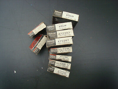 National Oil Seals; lot of 10 pcs 472179 472397 471766 others, misc
