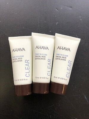 Ahava - Time To Clear Facial Mud Exfoliator - 100ml/3.4oz Lierac Cleansing Oil Makeup Remover for Face & Eyes, 5 Oz (Pack of 4) + Schick Slim Twin ST for Sensitive Skin