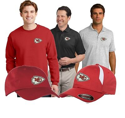 Kansas City Chiefs  Sweat Shirts - Hoodies - Polo Golf Shirts  Embroidered