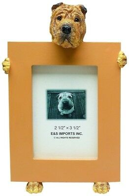 """Shar Pei Picture Frame Small 2 1/2"""" x 3 1/2"""" E&S 35315-96 Small Dog Frame"""