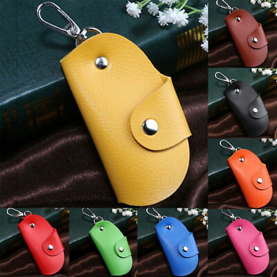 ALS_ Fashion Multifunctional Faux Leather Car Key Case Holder Pouch Unisex Walle