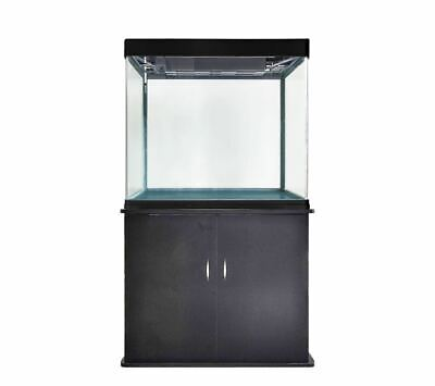 55 Gallon Fish Tank Aquarium with LED Light and Stand Bundle Pump Curved Glass