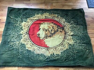 Antique Chase St. Bernard  Lap Robe Horse Mohair-Carriage Buggy Blanket,vg
