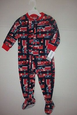 NEW Carter's Toddler Boys Size 18 mo 24 mo 2T 5T Firetruck  Blanket Sleeper